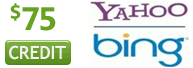 Bing Yahoo Credit - New accounts only